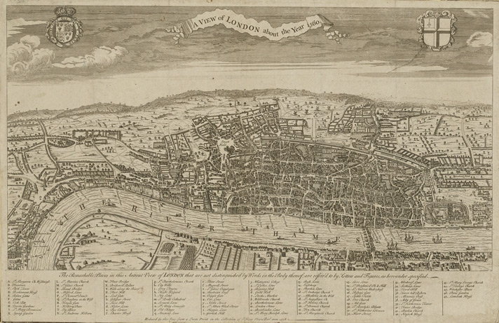 A view of London about the year 1560